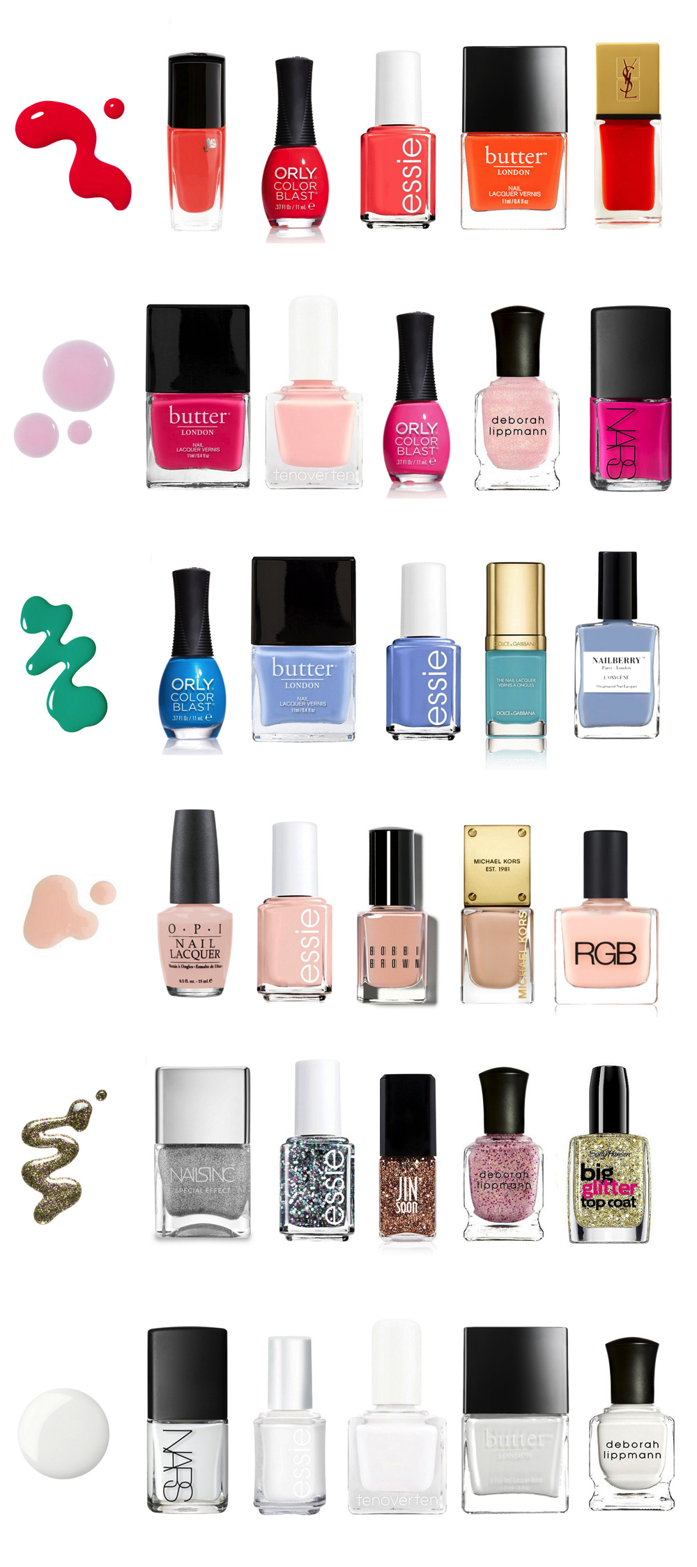 the best nail polish colors for summer glitter inc