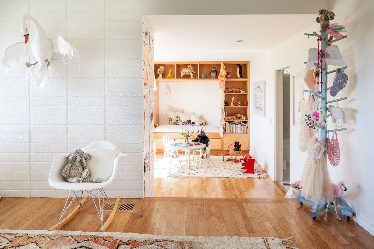 bohemian modern nursery playroom