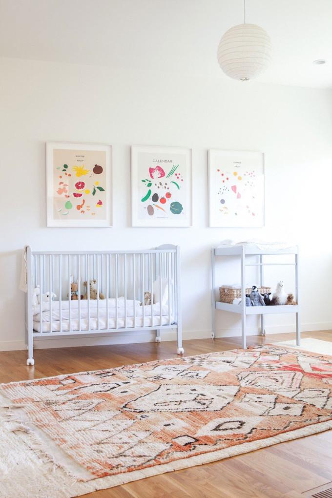 bohemian modern rug nursery