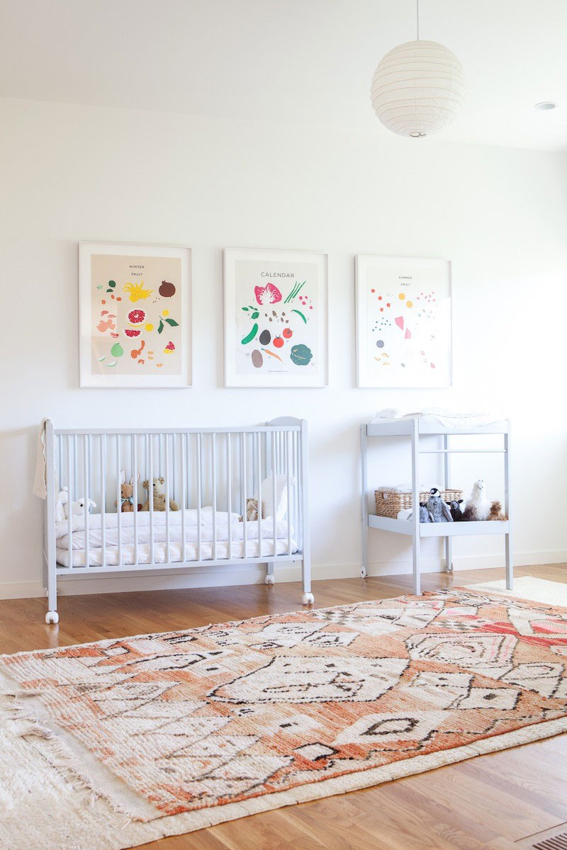 Light Filled Bohemian Nursery And Playroom Glitter Inc