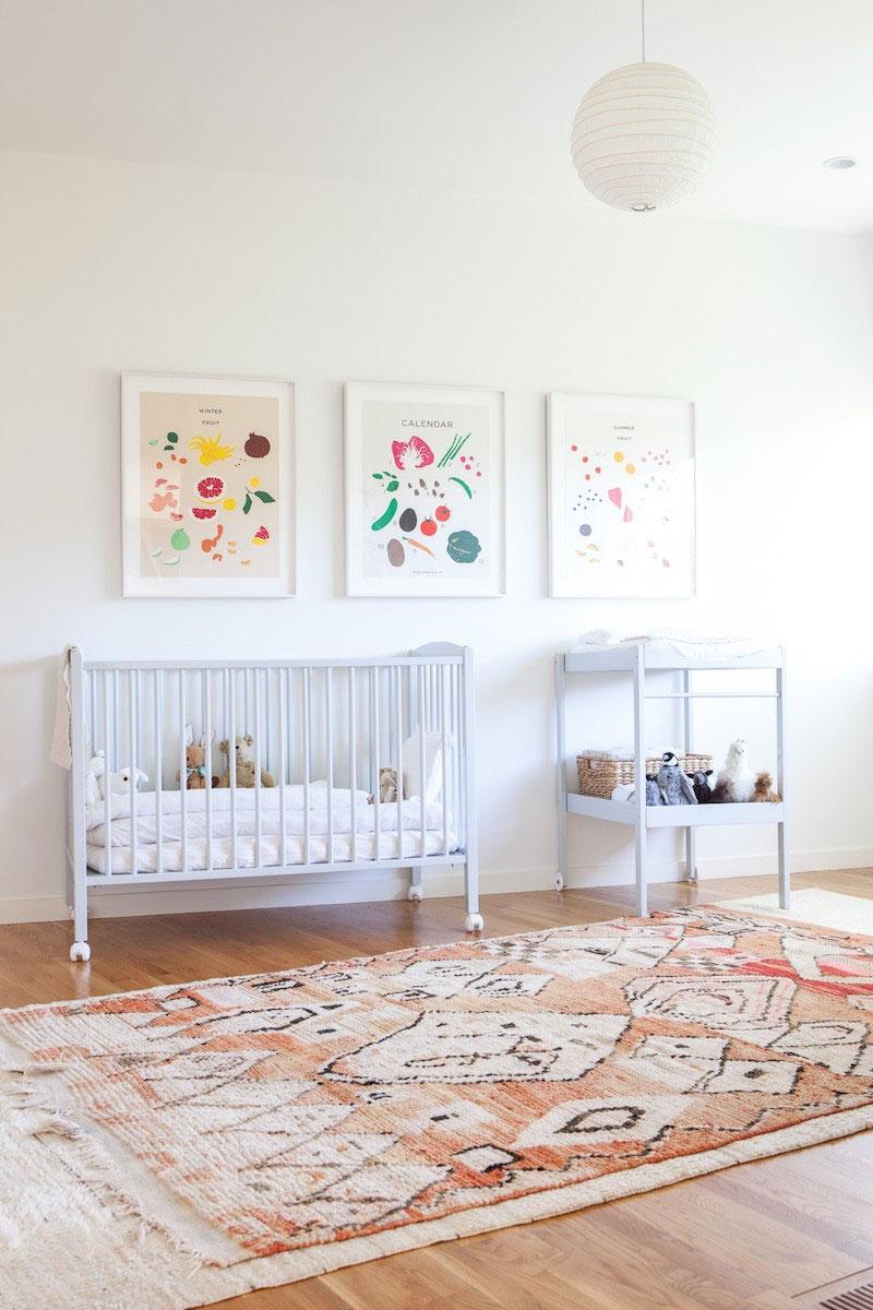 Bohemian Modern Nursery Playroom Rug