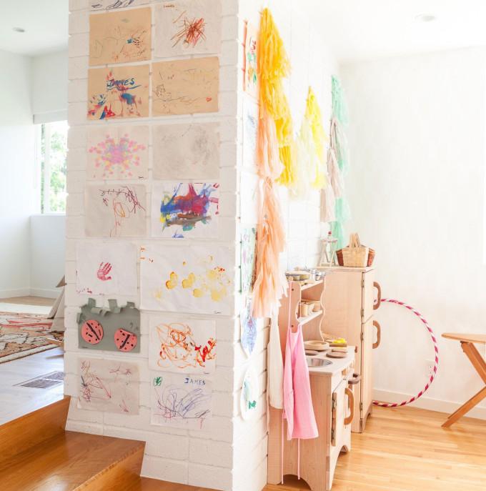 modern bohemian nursery playspace