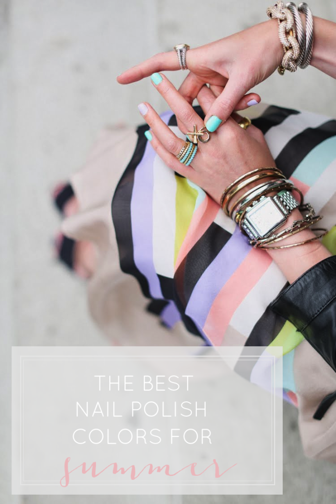 the best nail polish colors for summer | turquoise blue nails - nail polish - spring summer