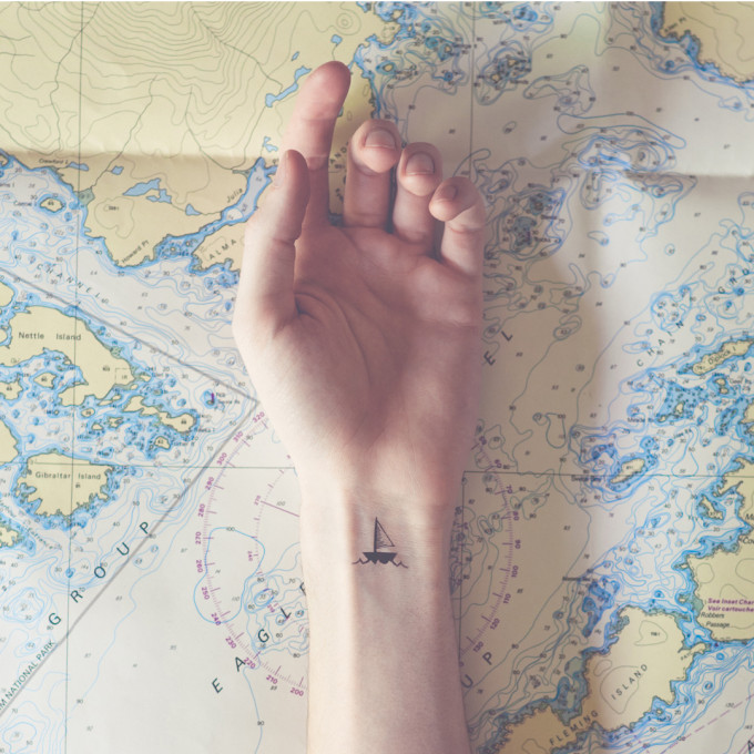tiny-tattoo-sail-boat-map-world