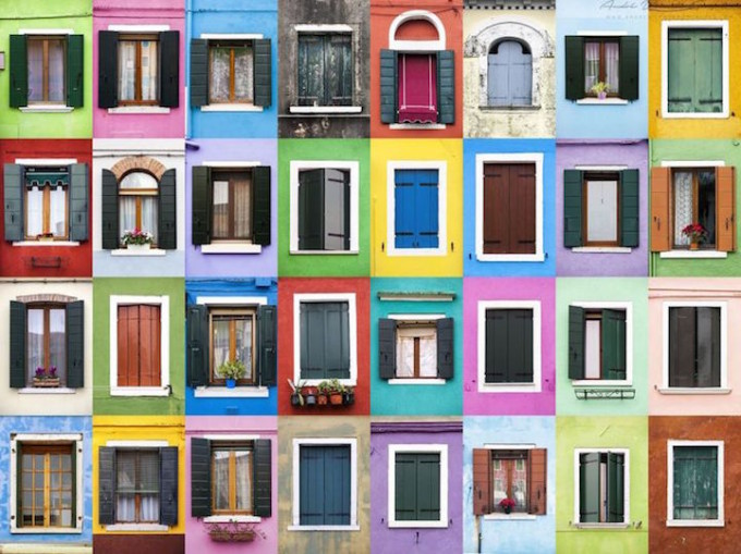 Burano Italy - Windows of the World