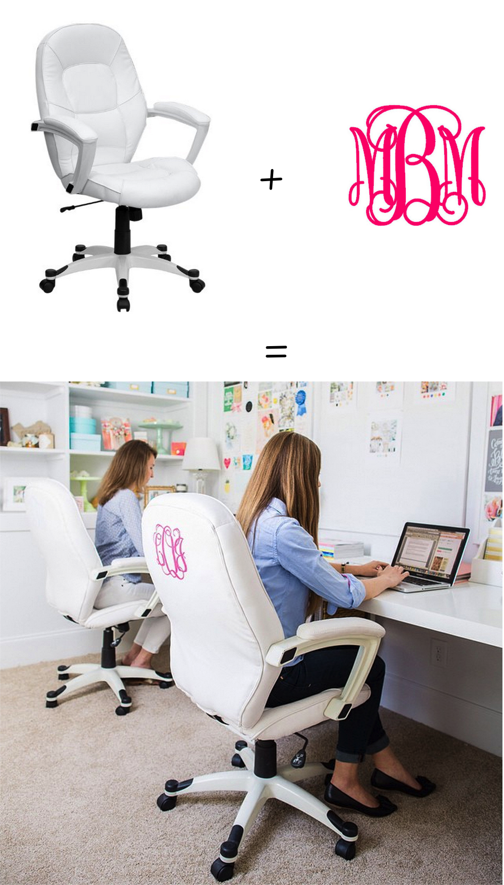 office chair makeover. Monogram DIY Office Chairs By NC Blogger Glitter, Chair Makeover .