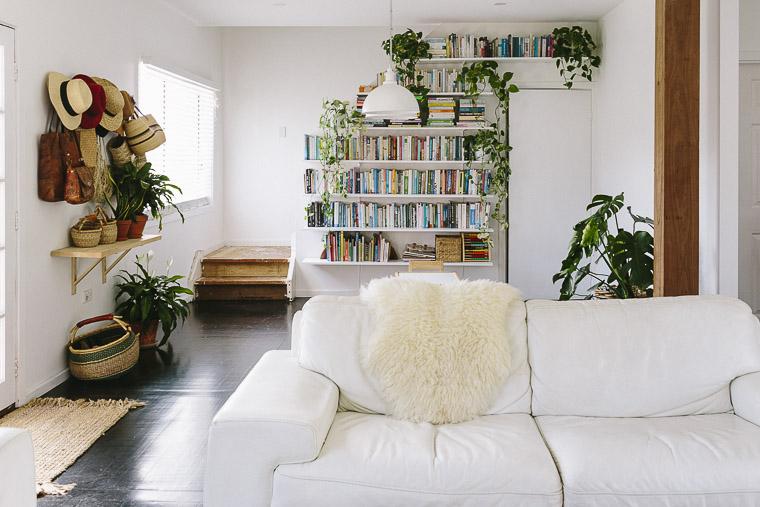 Rustic Bohemian Family Home - Living Room Books