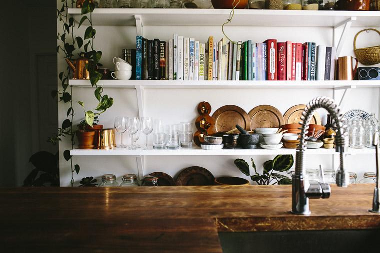 Rustic Bohemian Family Home - Subway Tiles White Kitchen Cookbooks