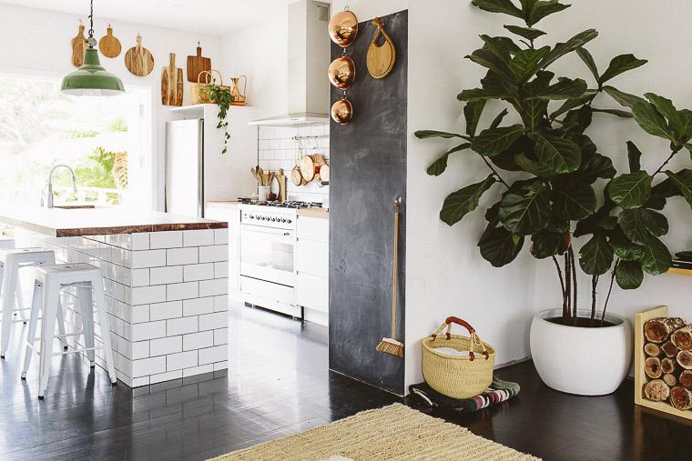Rustic Bohemian Family Home - Subway Tiles White Kitchen