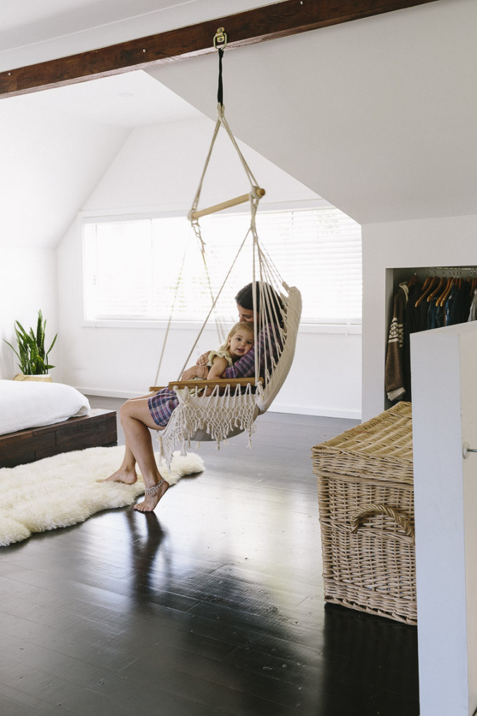 Rustic Bohemian Family Home - bedroom hammock