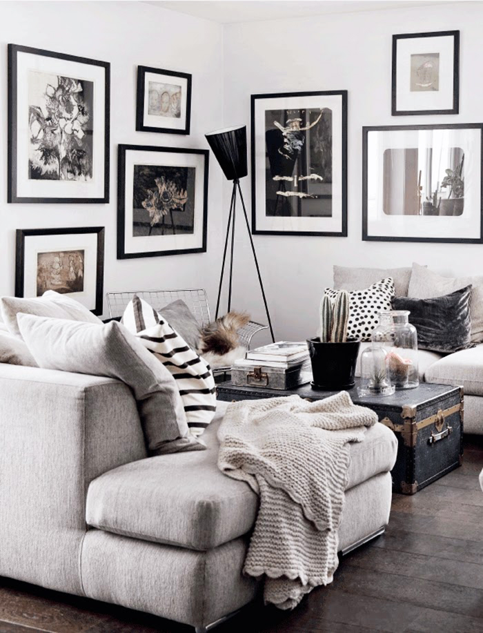 10 gallery walls that are about to give you major inspiration. Click through for the details.   glitterinc.com   @glitterinc