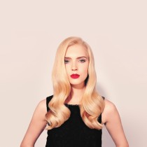 classic glam retro curls waves hair style