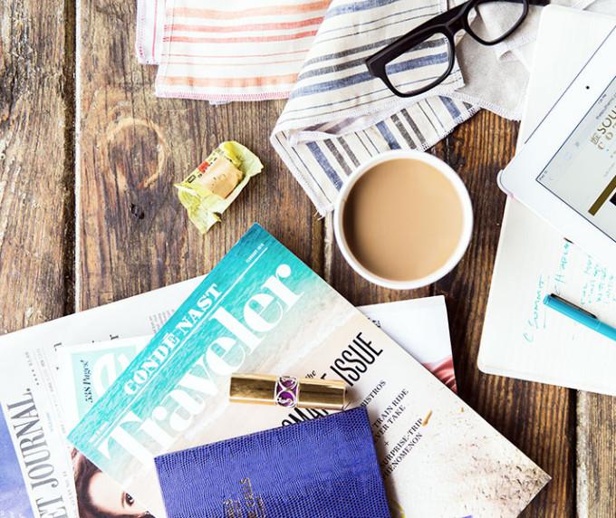 conde-nast-traveler-desk-rustic-beach-summer-notes-ipad-glasses