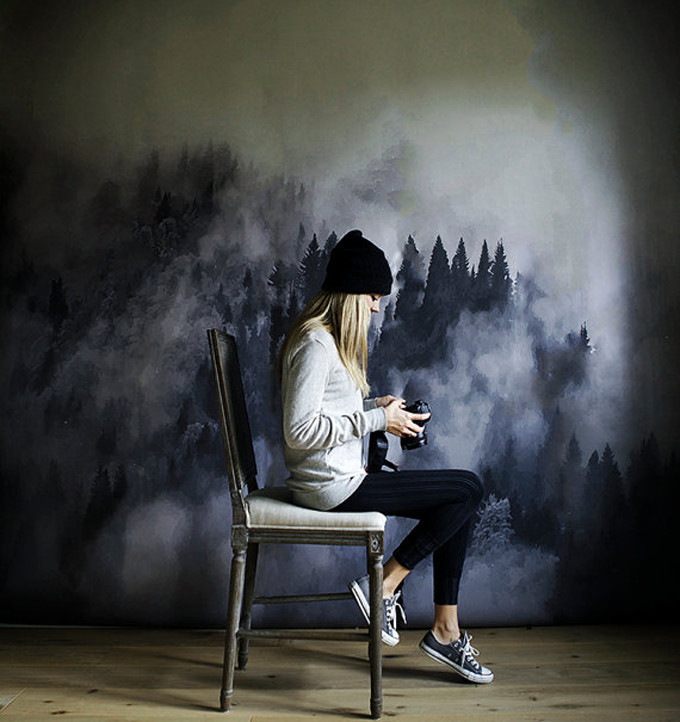foggy-hills-wall-art-wallpaper-mural-watercolor