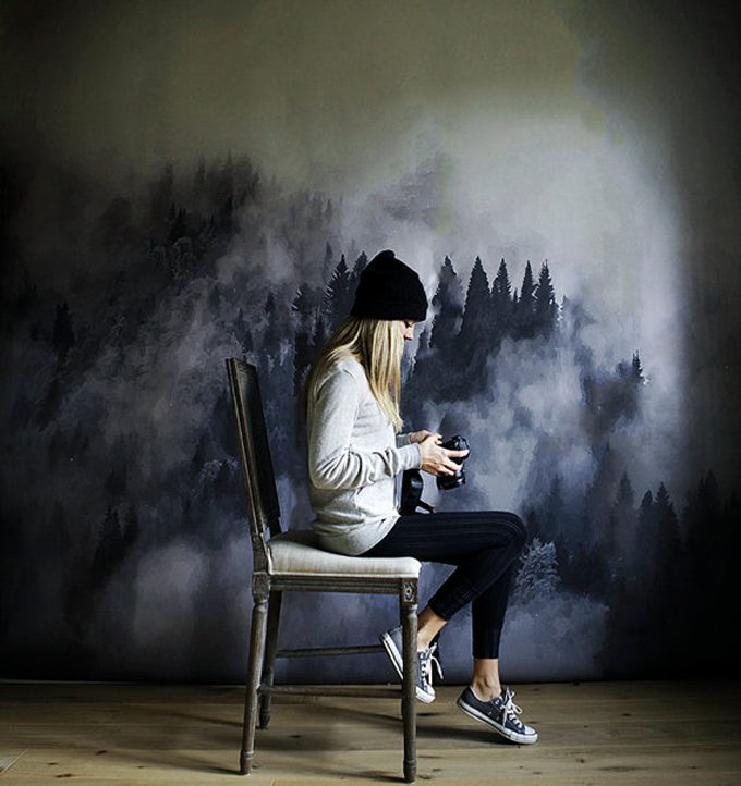 foggy-hills-wall-art-wallpaper-mural-watercolor