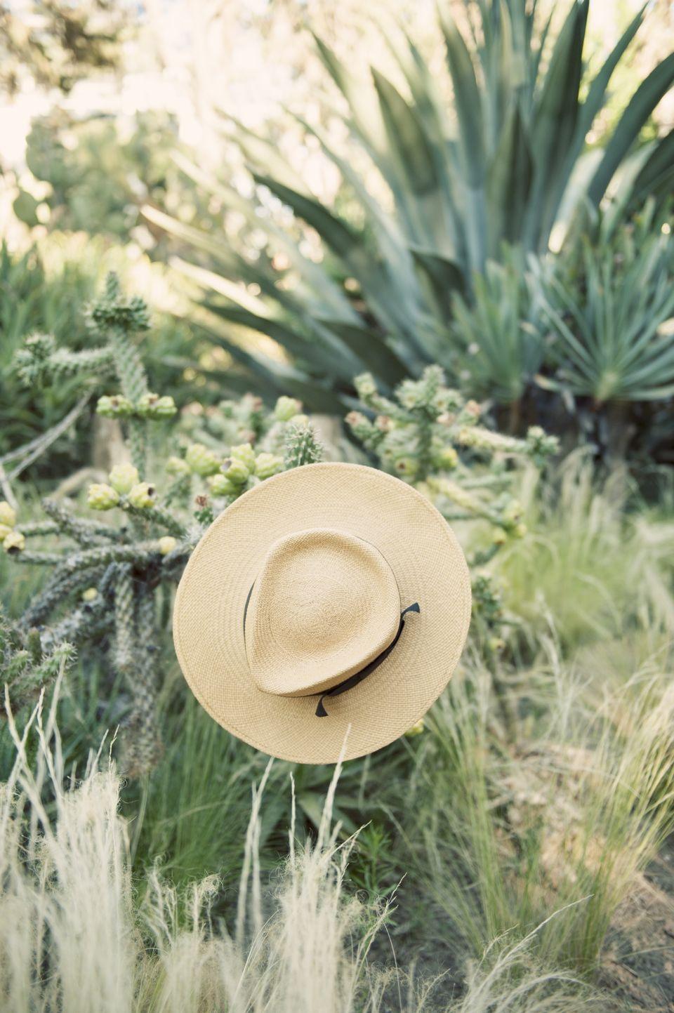 straw hat dessert daydreaming