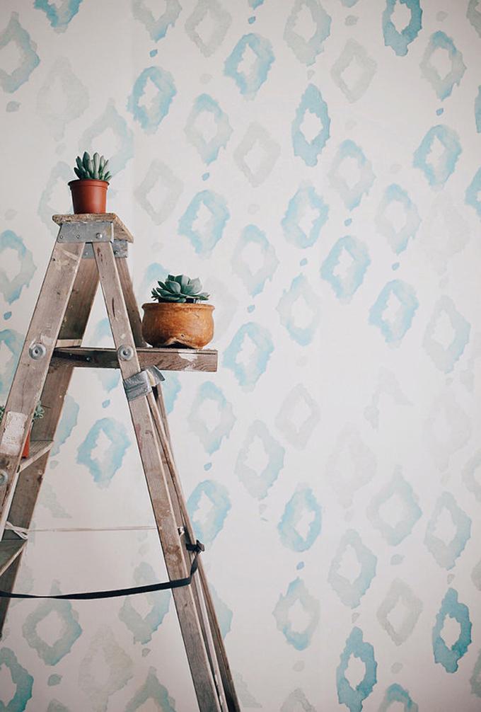 watercolor-diamonds-mural-wall-art-wallpaper