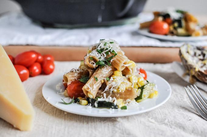 Brown-Butter-Garden-Vegetable-Pasta-Skillet