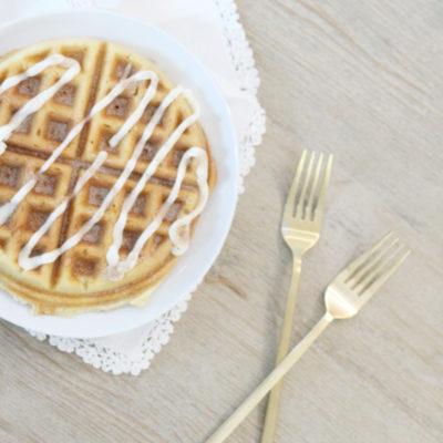 Cake Mix Cinnamon Roll Waffles