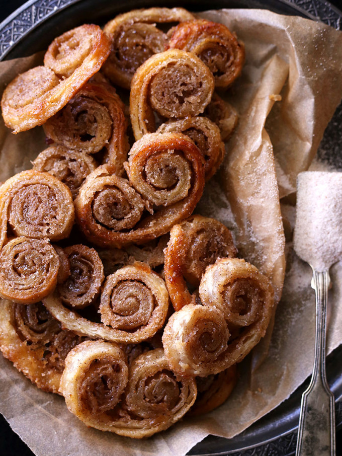 22 Favorite Ways to Use Puff Pastry: Chai Spice Palmiers puff pastry cookies
