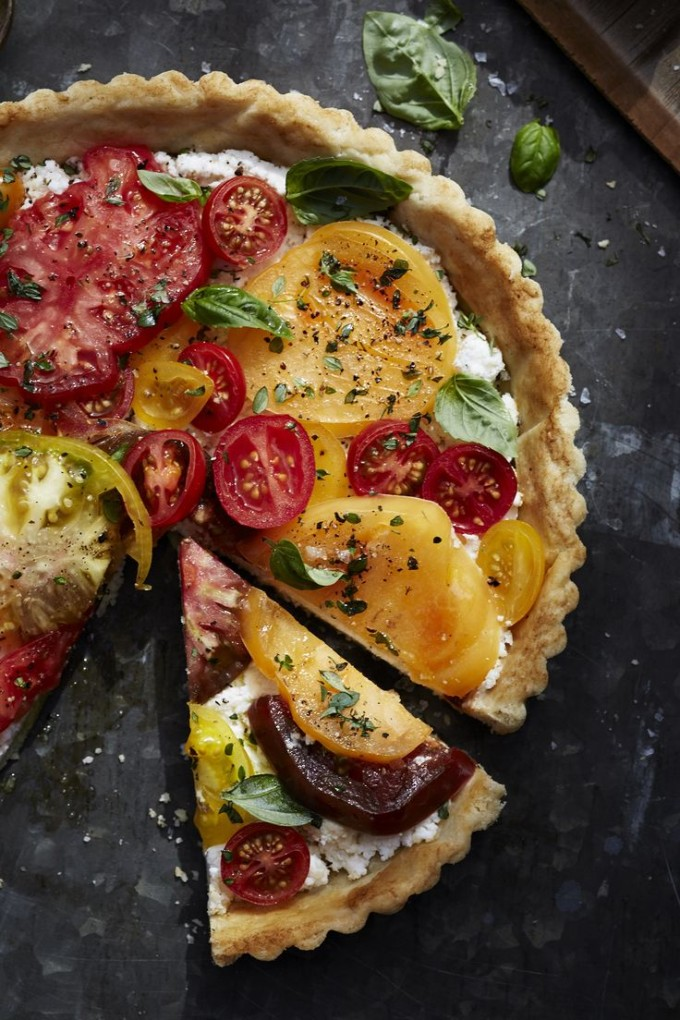 Heirloom Tomato Tart with Ricotta and Basil via Williams-Sonoma .