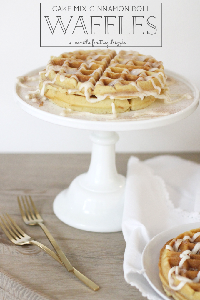 How-to-Make-Cake-Mix-Cinnamon-Roll-Waffles-with-Vanilla-Frosting-Drizzle---glitterinc.com