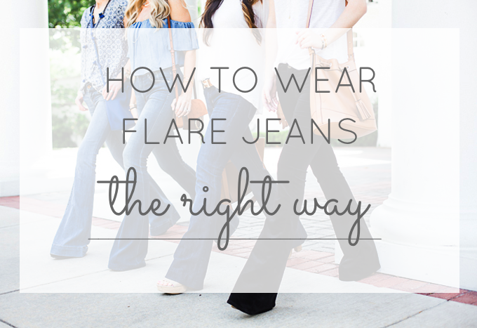How to Wear Flare Jeans the Right Way | glitterinc.com