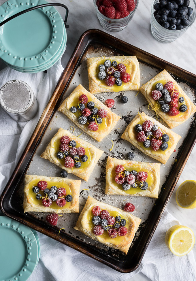 22 Favorite Ways to Use Puff Pastry: Lemon Berry Cheesecake Puff Pastries