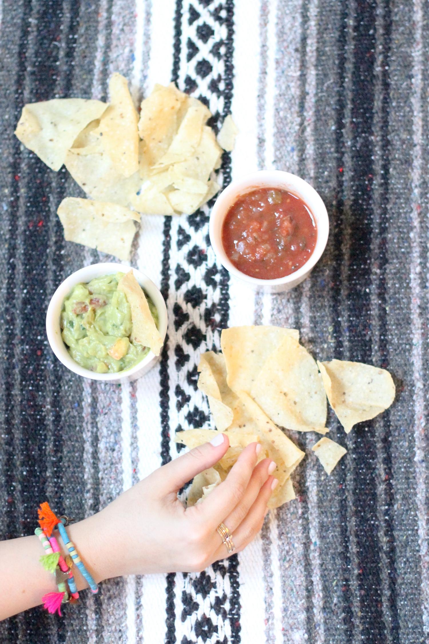 Mexican-Blanket---chips-salsa-guacamole---party-bracelets---glitterinc.com