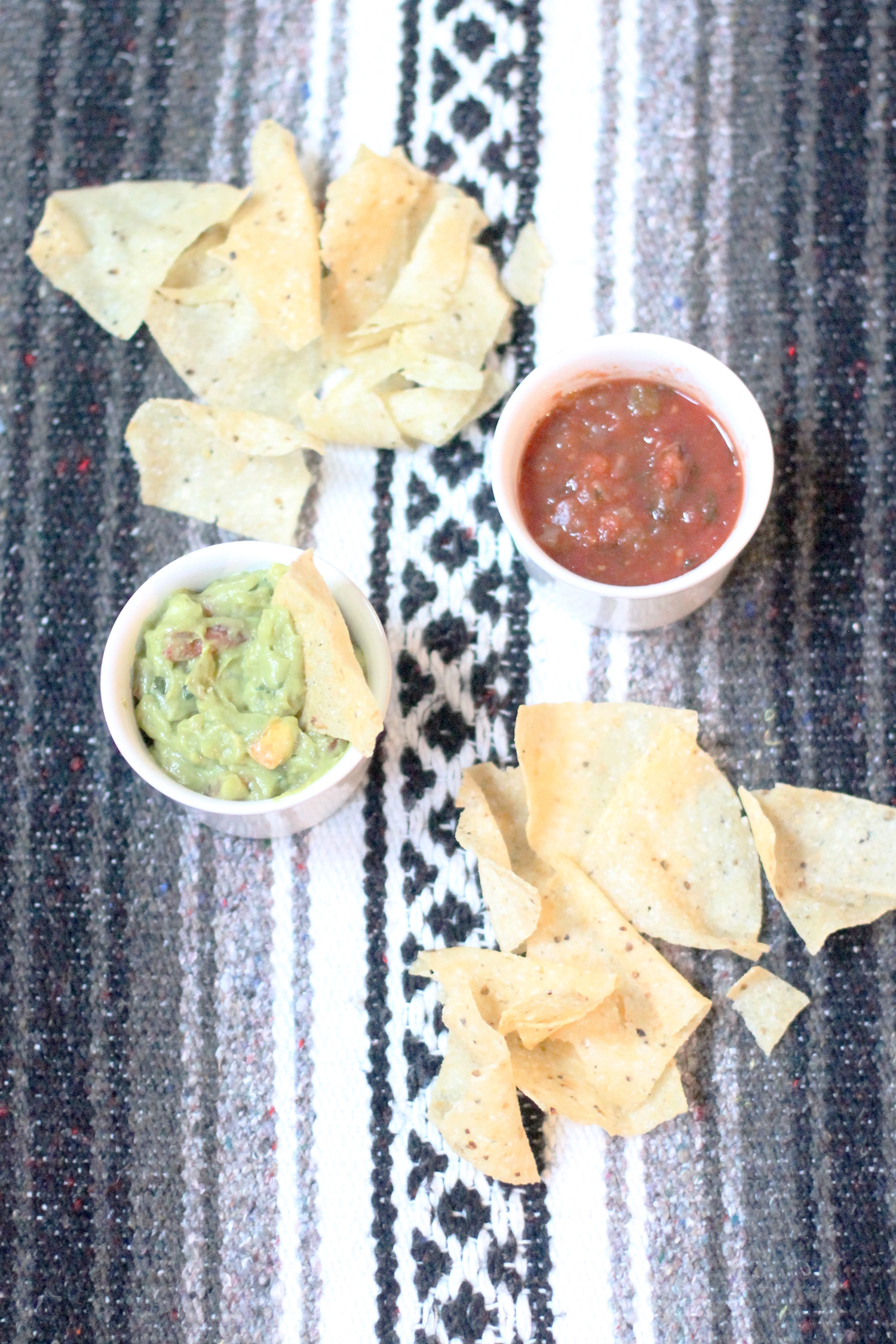 Mexican-Blanket---tortilla-chips-salsa-guacamole-party---glitterinc.com