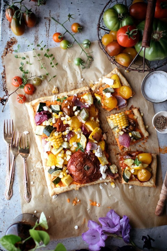 22 Favorite Ways to Use Puff Pastry: Roasted Vegetable Garden Tart Puff Pastry