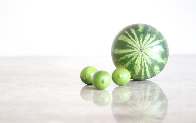 How to make easy watermelon (lime) slushies   glitterinc.com