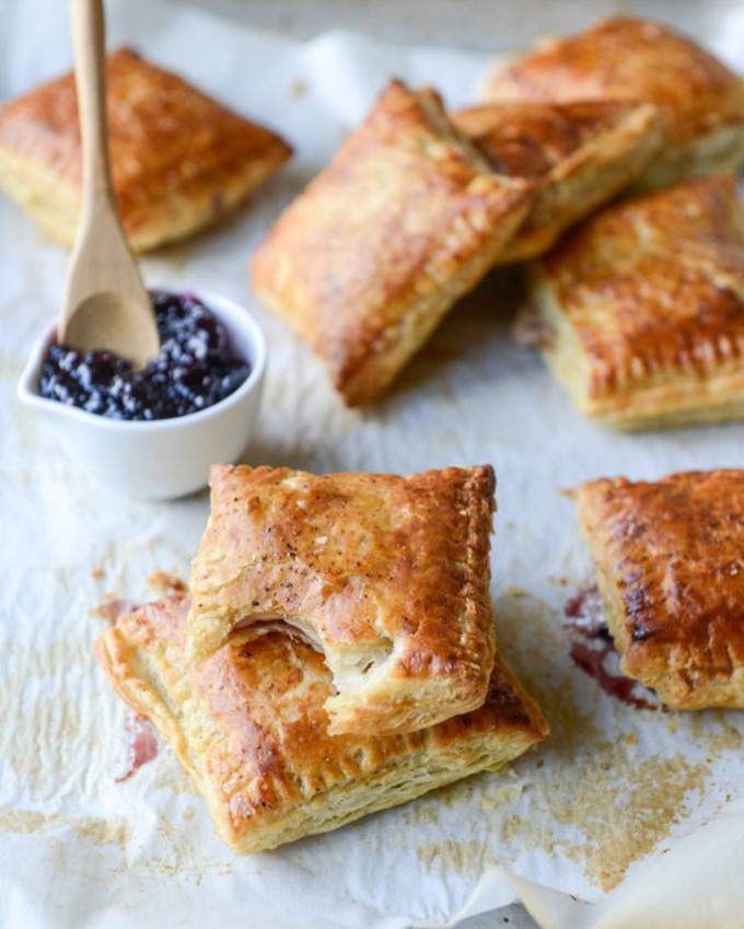 22 Favorite Ways to Use Puff Pastry: Smoked Cheddar and Cherry Jam Puff Pastry Pop Tarts