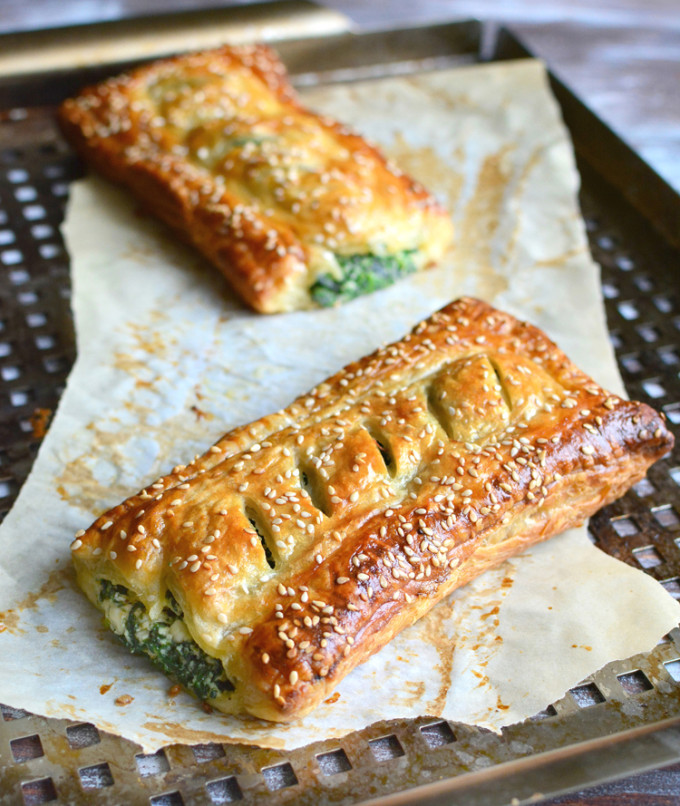 22 Favorite Ways to Use Puff Pastry: Spinach with Feta and Ricotta Puff Pastry Rolls