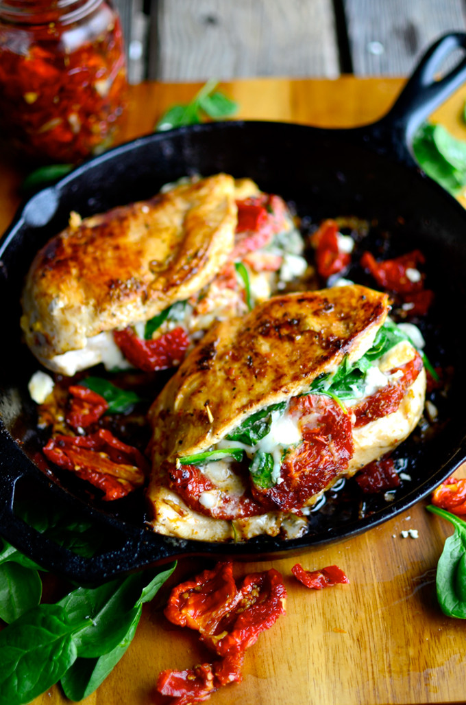 Sundried-Tomato,-Spinach,-and-Cheese-Stuffed-Chicken