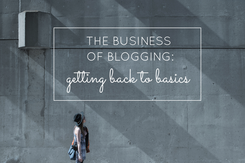 The Business of Blogging - Getting Back to Basics as a Blogger and Small Business Owner   glitterinc.com