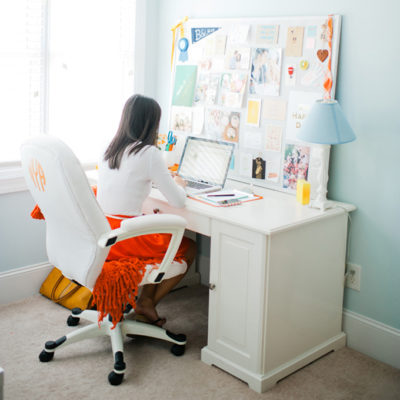 Monogram DIY Office Chairs