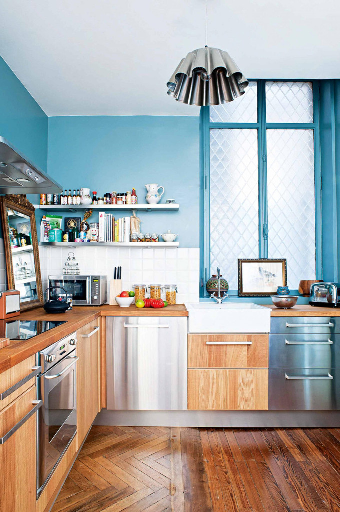 french-apartment-blue-modern-kitchen