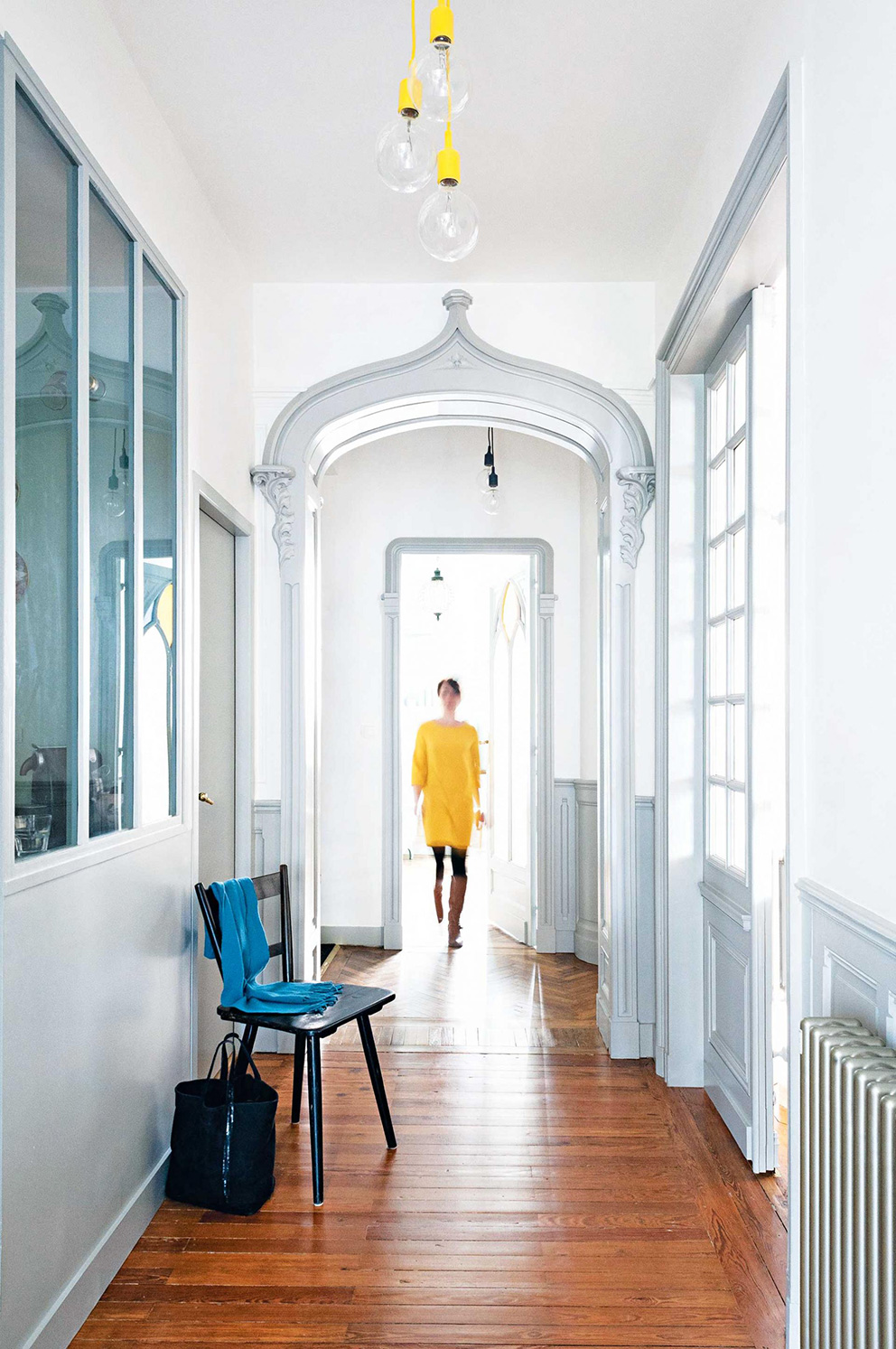 french-apartment-hallway-yellow-dress