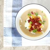 loaded-cauliflower-soup-overhead---glitterinc.com