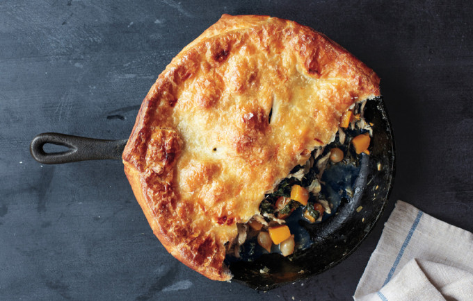 22 Favorite Ways to Use Puff Pastry: Skillet Chicken pot pie with butternut squash