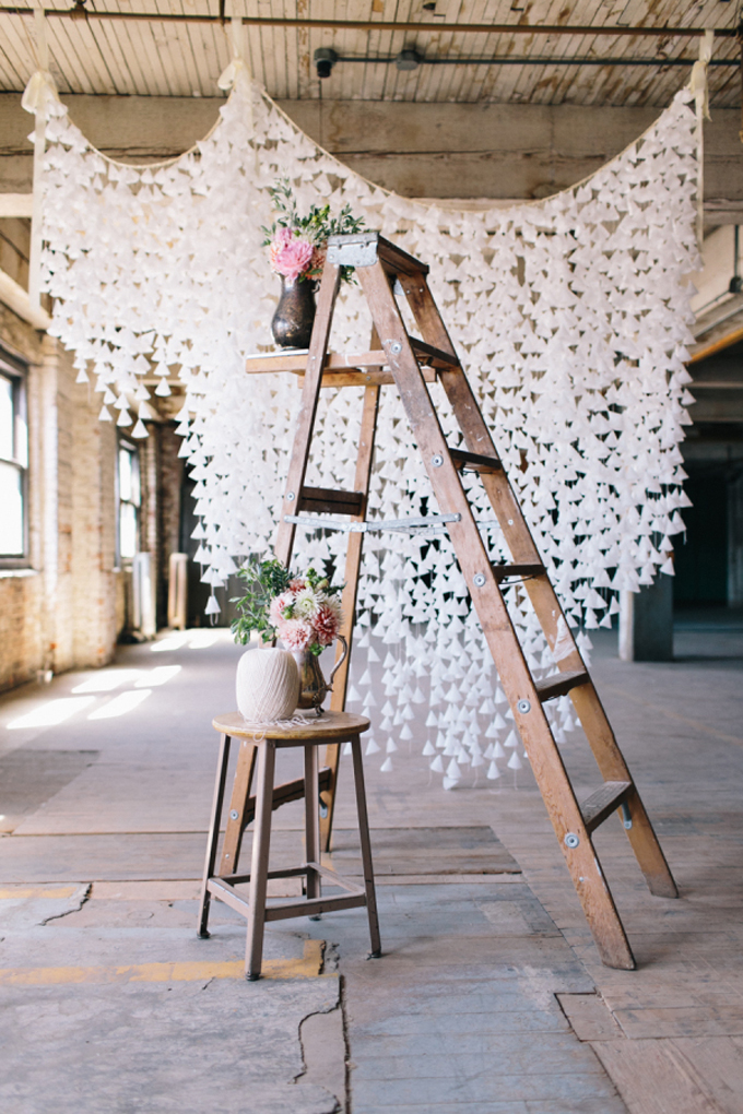 How a backdrop can transform a wedding or party plus a diy wax diy white wax paper hanging backdrop and why a simple backdrop can really transform a solutioingenieria Choice Image