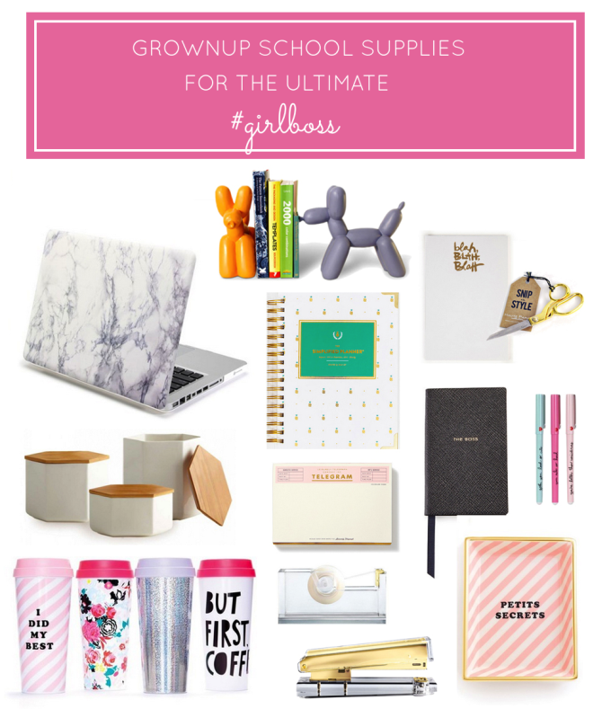 Grownup School Office Supplies for the Ultimate Girl Boss | glitterinc.com
