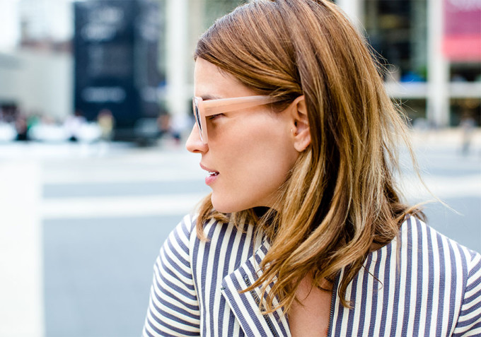 How to Wear Nude Sunglasses in Every Season | Wear Nude Sunglasses straight through fall and winter with this one foolproof beauty trick.