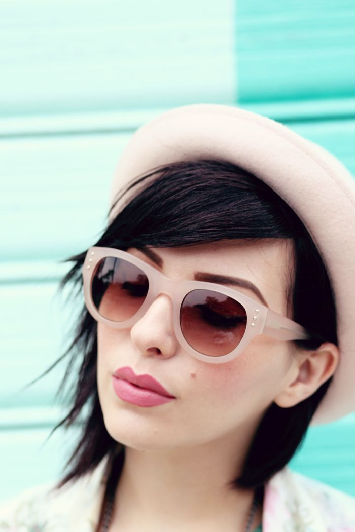 How to Wear Nude Sunglasses in Every Season   Wear Nude Sunglasses straight through fall and winter with this one foolproof beauty trick.