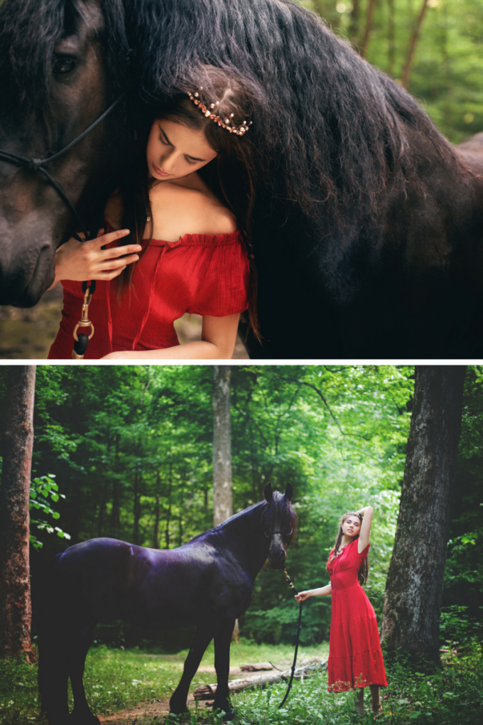 Reign-Inspired Styled Photo Shoot - red dress - glitterinc.com
