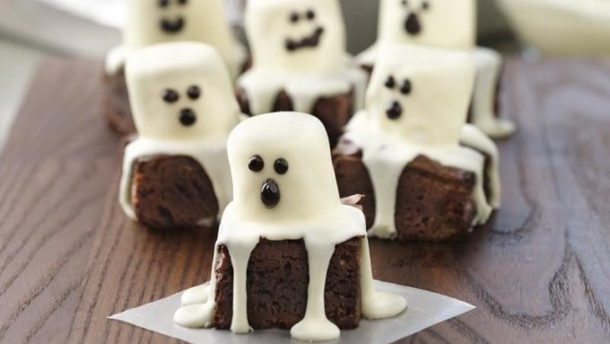 Spooky Boo Halloween Brownies