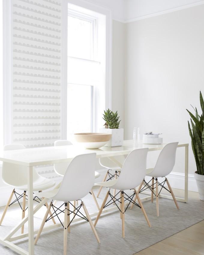 Jessi Randall of Loeffler Randall's Sleek White Park Slope, Brooklyn Renovation - Modern Dining Room Design