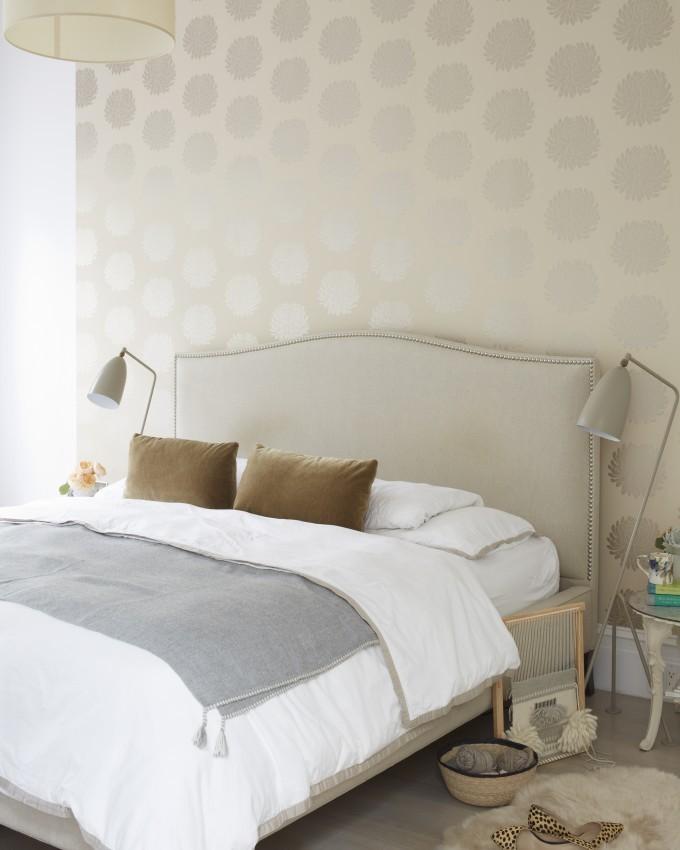 jJessi Randall of Loeffler Randall's Sleek White Park Slope, Brooklyn Renovation - Modern Neutral Bedroom Design