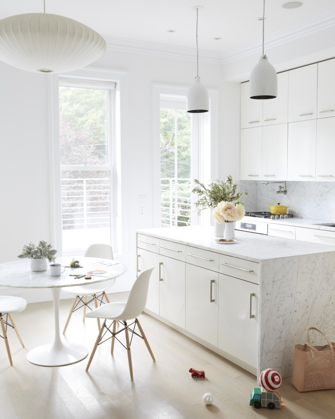 Jessi Randall of Loeffler Randall's Sleek White Park Slope, Brooklyn Renovation - Modern Kitchen Design